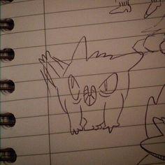 Hiya!!!   #gengar #kick #pokemon #karate #doodle #sketch