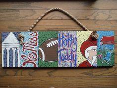 Ole Miss Six Pack Painting. $75.00, via Etsy.