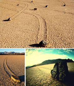 Феномен Мертвой пустыни в США: движущиеся камни, которые оставляют дорожки на песке