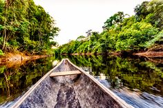 Lugares para conhecer no brasil: Passeando de barco ou canoa é possível ter uma leve noção do que são os rios amazônicos.