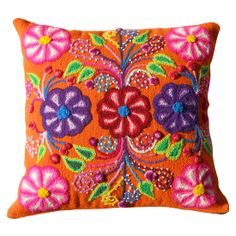 Hand-embroidered Peruvian Pillow #huntersalley