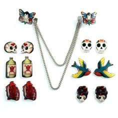 Jazz up your boring cardigan with these cute sweater clips. Sweater clips were popular in the 50's and 60's.