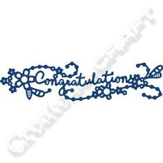Tattered Lace Congratulations Swag Die
