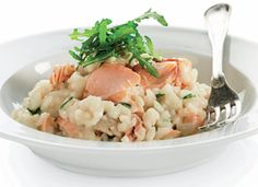 Risotto med laks // Risotto with salmon