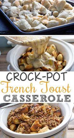 #26. Crock-Pot French Toast Casserole -- 30 Super Fun Breakfast Ideas Worth Waking Up For