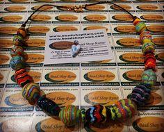 Artistic zic zac glass beads by rankoussi
