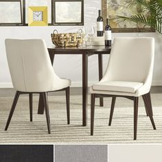 Soho Mid-Century Modern Upholstered Dining Chairs (Set of 2) - 17837299 - Overstock.com Shopping - Great Deals on Dining Chairs