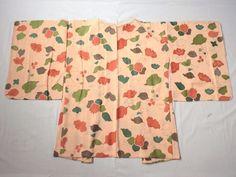 Japanese Vintage Kimono Haori Silk Light Pink Green Good Condition P112718   eBay
