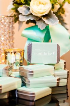 Mints in silver tins wedding favors | photography by http://www.amandahein.com/