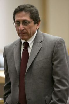 Prosecutor Juan Martinez cross-examines Alyce LaViolette, a domestic violence expert, during the Jodi Arias trial at Maricopa County Superior Court in Phoenix  on Wednesday, April 10, 2013.