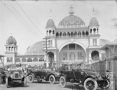 Autos at Saltair :: Utah State Historical Society - Shipler Commercial Photographers Salt Lake County, Salt Lake City Utah, Old Pictures, Old Photos, University Of Utah, Historical Society, Ghost Towns, Historical Photos, Back In The Day