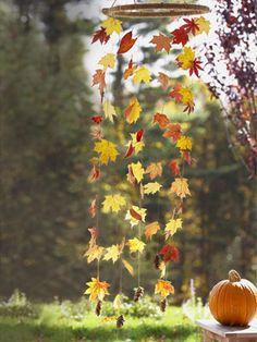 This mobile mimics fluttering foliage--minus the raking.