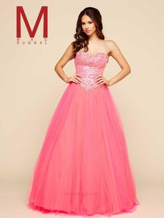 Ball Gowns by Mac Duggal 65378H Mac Duggal Ball Gowns Lillian's Prom Boutique