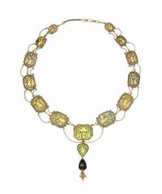 Pratapgarh Gold & Stained Glass Necklace
