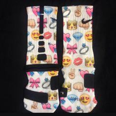 Girlie Emoji Custom Nike Elite socks · Sock Insanity · Online Store Powered by Storenvy