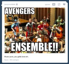 Orchestra Humor is listed (or ranked) 12 on the list The Best Marvel Memes For Comic Book Nerds Funny Band Memes, Band Jokes, Funny Marvel Memes, Dc Memes, Avengers Memes, Marvel Jokes, Music Jokes, Music Humor, Funny Music