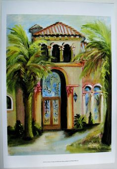 $24.50  Architecture Palm Tree ART Print AT Home IN Paradise II BY Anitta Martin | eBay #art #door #walldecor
