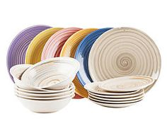 servizio di piatti in gres dune 18 pezzi