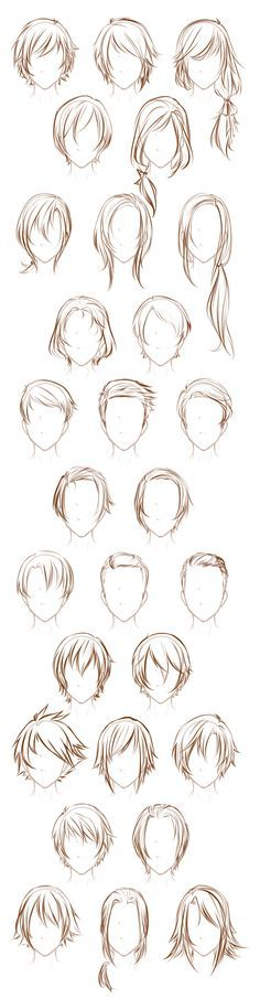 Male OC hairstyles by Lunalli-Chan.deviantart.com on @DeviantArt