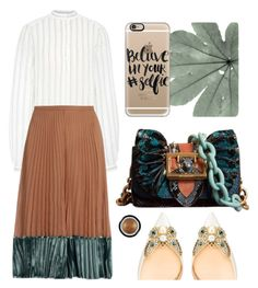"""Believe in your selfie"" by cherieaustin ❤ liked on Polyvore featuring Valentino, Burberry, Christian Louboutin, Giorgio Armani and Casetify"
