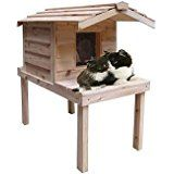 $195.53  - Insulated Cedar Outdoor Cat House with Lounging Deck... * Want additional info? Click on the image. (This is an affiliate link) #CatHousesCondos