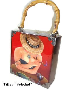 Fine Art Cigar Box Purse w/ Soledad painting on by thebestart1122