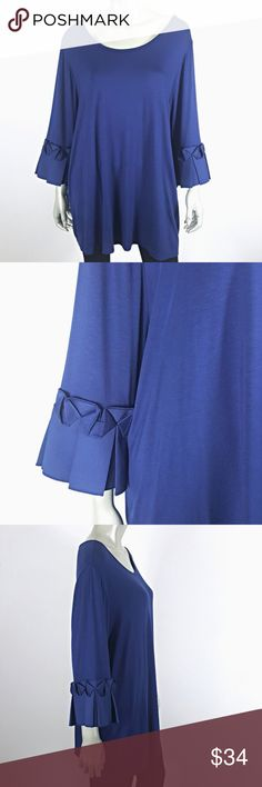 695024122e1d6 Lane Bryant Pleated Sleeve Boho Top Size 22 24W Size 22 24 Excellent  Condition!