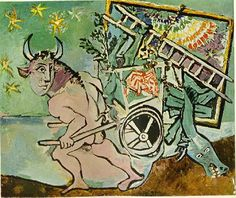 Minotaur Transports A Mare And Foal (?)  Pablo Picasso