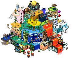 Super Mario All Stars, Super Mario Art, Super Mario World, Pixel Art, Mario And Luigi, Mario Bros, Pin Up Posters, Video Game Art, Video Games