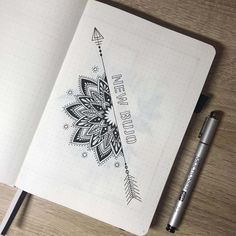 Bullet journal, Bullet journal inspiration, Bullet journal Bullet journal inspo, Bullet journal themes, Bullet journal spread - Release your inner guru with over 100 amazing and inspiring Mandal - Bullet Journal 2019, Bullet Journal Spread, Bullet Journal Ideas Pages, Bullet Journal Layout, Work Journal, Doodle Art Drawing, Mandala Drawing, Zen Doodle, Notebook Drawing