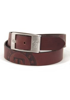 Texas Rangers (TX Rangers) Mens Brown Brandish Belt