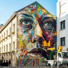 New Street Art by David Walker in Nancy, France#art #arte #mural #streetart