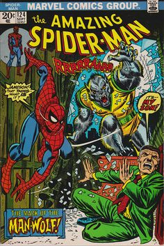 Vol 124 comic, Gifts, Bronze Age book. 1973 Marvel Comics, VF+ You are in the right place about Comic Book wedding Here we offer you the most beautiful pictures about the Amazing Spiderman, Amazing Spider Man Comic, Marvel Comic Books, Comic Books Art, Comics Spiderman, Werewolf Stories, Comic Book Wedding, Comic Book Display, Superman