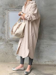 Mode Outfits, Jean Outfits, Casual Outfits, Fashion Outfits, Womens Fashion, Fashion Tips, Cotton Shirt Dress, Long Shirt Dress, Japan Fashion
