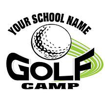 Golf Camp T-Shirt Design: High School, Junior High, or Elementary Golf Camp
