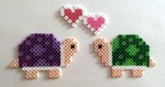 Turtles in Love Perler Beads by SkellieBeads
