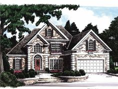 Home Plan HOMEPW10542 is a gorgeous 2341 sq ft, 2 story, 4 bedroom, 3 bathroom plan influenced by  New American  style architecture.