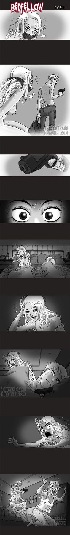 Chapter 223 Bedwellow (A) Creepy Games, Creepy Art, Creepy Stories, Horror Stories, Silent Horror Comics, Creepy Comics, Scary Images, 4 Panel Life, Dark Comics