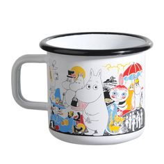 Tove Jansson's 100 years jubilee is celebrated in 2014 and Muurla has created a unique enamel mug to honor her work. For each sold mug Muurla donates 1 € to UNICEF's education program. Look here for a full list of Unicef themed products. Moomin Books, Moomin Mugs, 100 Years Jubilee, Les Moomins, Moomin Shop, Tove Jansson, Cute Mugs, Kitchen Items, Cool Kitchens