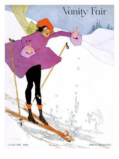 Vanity Fair Cover - January 1919 Poster Print by Ethel Rundquist at the Condé Nast Collection