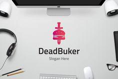 Dead Burger by on Envato Elements Burger Restaurant, Business Logo Design, Logo Templates, Slogan, Hero, Business Logos