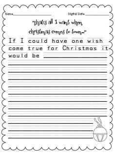 """""""That's all I want when Christmas comes to town..."""" A week of free writing activities to go with the book the Polar Express!"""
