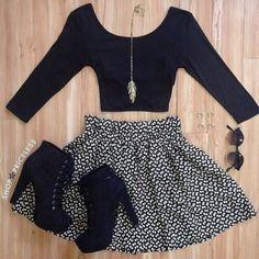 dress shirt skirt shoes