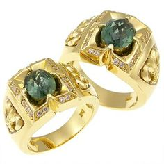 Gold rings with gemstones TCR50168