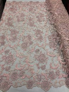 Shop Lace Fabric Beaded Floral PINK- Luxury Wedding Bridal Veil Hand Embroidery Lace Sequins/Beads For Mesh Dress Top Wedding Decoration By The Yard Bridal Lace Fabric, Embroidered Lace Fabric, Floral Embroidery, Hand Embroidery, Embroidery Suits, Dear Costume, Floral Mesh Dress, Luxury Wedding Dress, Fabric Beads