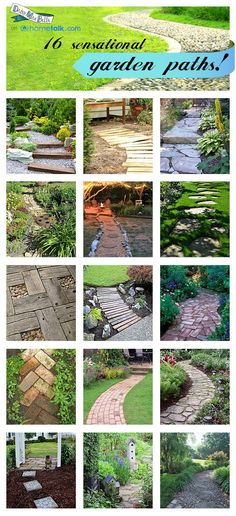 Ideas for Garden Paths | daisymaebelle - The one thing I miss from my homes in OH?  The gardens and flower beds!  Specially at my Landchester Road house...