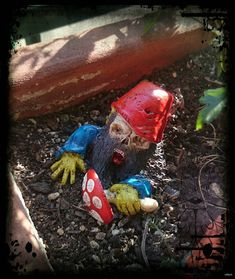 Garden gnomes Zombie cm by ArteficeDeiGolem on Etsy Amazing Gardens, Beautiful Gardens, Synthetic Resin, Gnome House, Apocalypse Survival, Gnome Garden, Garden Statues, Needful Things, Wood Pieces