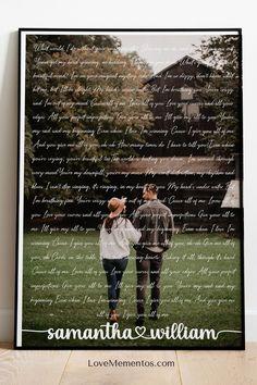 Wedding Gifts for Couples, Anniversary Gifts for Her Wife, Wedding Anniversary Gift for Him husband Song Lyrics Wall Art #weddinggifts #weddinganniversary #giftsforhim #giftforher