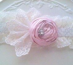 Pink Garter Vintage Wedding Lace Garter SET Shabby Chic Lace
