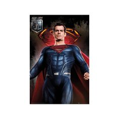 Justice League - Superman Solo Poster ($9.99) ❤ liked on Polyvore featuring home, home decor, wall art, justice league wall art, superman wall art, justice league poster and superman poster